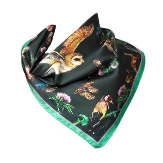 Clare Haggas Walk On The Wild Side Silk Medium Square Scarf | Chelford Farm Supplies
