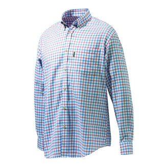 Beretta Mens Classic Shirt White/Red/Blue Check