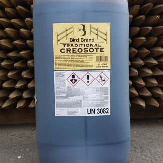 Bird Brand Traditional Creosote Dark Brown 25L Clear Drum