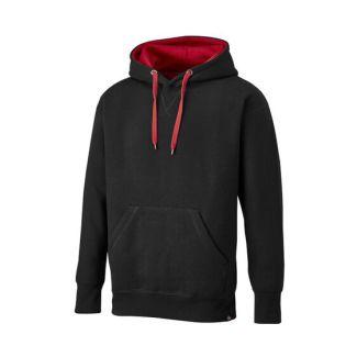 Dickies Two Tone Hooded Jumper Black/ Red