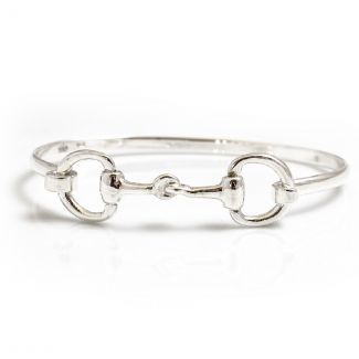 Hiho Silver Exclusive Sterling Silver Double Snaffle Bracelet