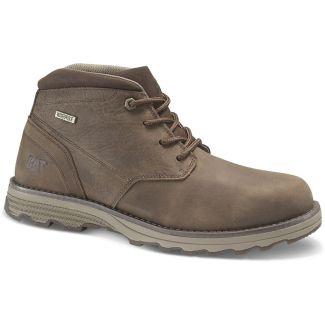 Caterpillar Mens Elude Waterproof Boots Dark Brown