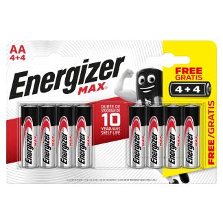 Energizer AA Max Alkaline Batteries Pack of 4 + 4