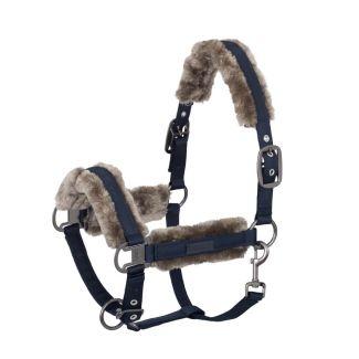 Eskadron Doublepin Glossy Faux Fur Headcollar | Chelford Farm Supplies