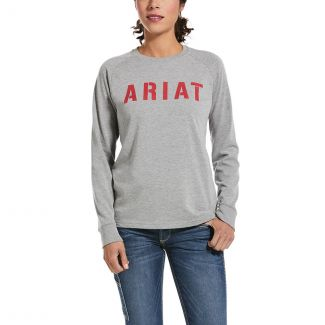 Ariat Ladies Rebar CottonStrong Block Long Sleeve T-Shirt