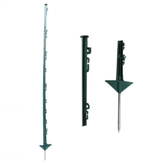 Fenceman Electric Fencing Economy Horse Poly Post Green 1.4m - Cheshire, UK