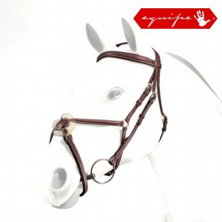 Equipe Figure Of 8 Padded Bridle Brown