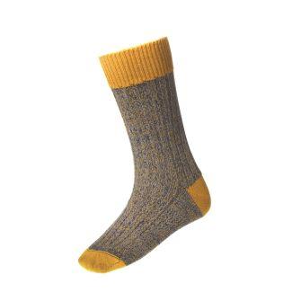 House of Cheviot Mens Firth New Mustard Socks