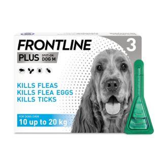 Frontline Plus Spot On Flea Treatment For Medium Dogs