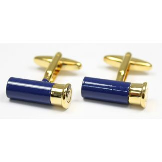 Sax Mens Soprano Cartridge Cufflinks Blue & Gold