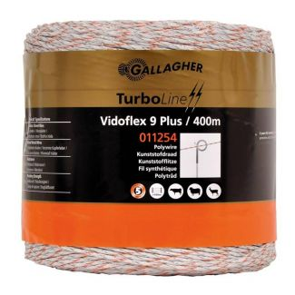 Gallagher Vidoflex 9 TurboLine Plus Polywire 400m