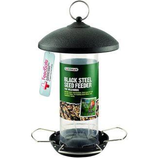 Gardman Black Steel Bird Seed Feeder - Chelford Farm Supplies