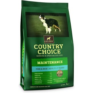 Gelert Country Choice Maintenance Fish & Rice Dog Food 2kg - Chelford Farm Supplies