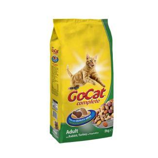 Go-Cat Complete Adult Rabbit Turkey & Veg Cat Food 2kg   Chelford Farm Supplies