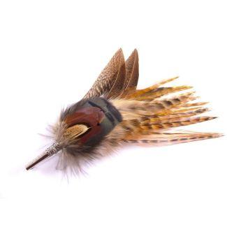 Hicks & Brown Gamebird Feather Brooch - Chelford Farm Supplies