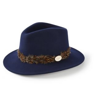 Hicks & Brown Ladies Suffolk Fedora Hat Pheasant Feather