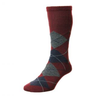 HJ Socks Mens Argyle Wool Softop Socks | Cheford Farm Supplies