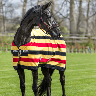 Horseware Rambo Deluxe Fleece Rug Whitney Stripe Gold
