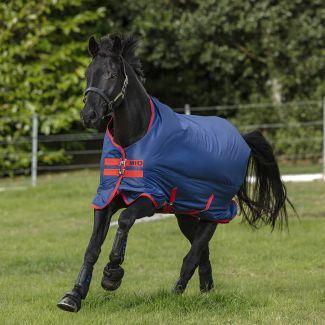 Horseware Mio Medium Turnout Rug 200g Dark Blue/Red