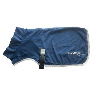 Horseware Rambo Dog Dry Rug Navy/Silver
