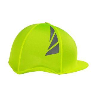 Hy Equestrian HyVIZ Reflector Hat Cover Yellow - Chelford Farm Supplies