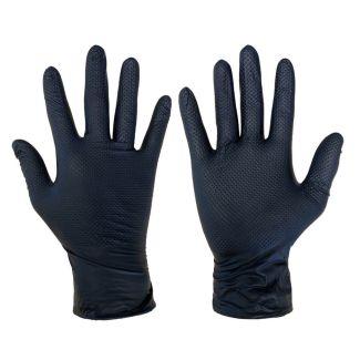 Ideall Grip+ Nitrile Protective Gloves Black 50 Pack | Chelford Farm Supplies