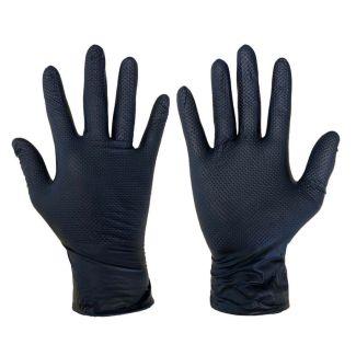 Ideall Grip+ Nitrile Protective Gloves Black XL 50 Pack | Chelford Farm Supplies