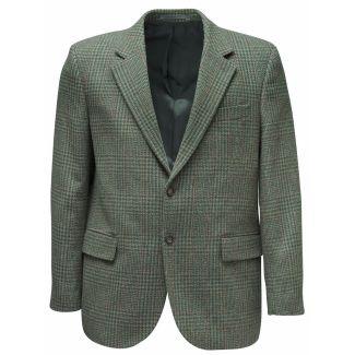 Hoggs of Fife Invergarry Tweed Sports Jacket Moss Green - Cheshire, UK