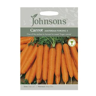 Johnsons Carrot Amsterdam Forcing 3 Seeds