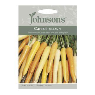 Johnsons Carrot Rainbow F1 Seeds