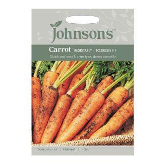 Johnsons Carrot Resistafly Tozresis F1 Seeds