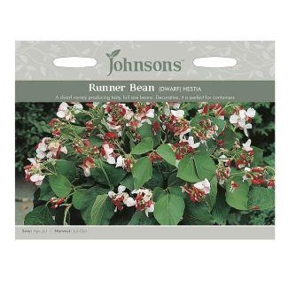 Johnsons Runner Bean Dwarf Hestia Seeds