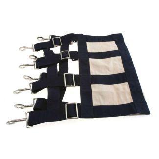 KM Elite Webbing Stall Guard Navy - Chelford Farm Supplies
