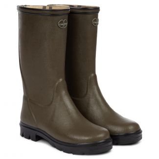 Le Chameau Children's Petite Adventure Jersey Lined Wellington Boots