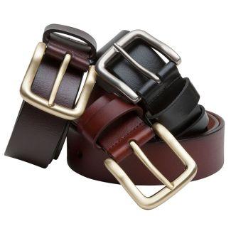 Hoggs of Fife Luxury Leather Belt Dark Brown