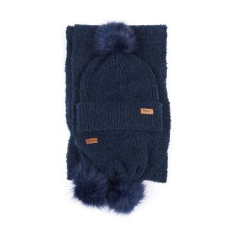 Barbour Ladies Boucle Beanie & Scarf