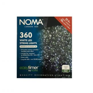 Noma 360 White LED Easy Timer String Lights - Chelford Farm Supplies