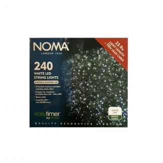 Noma 240 White LED Easy Timer String Lights - Chelford Farm Supplies