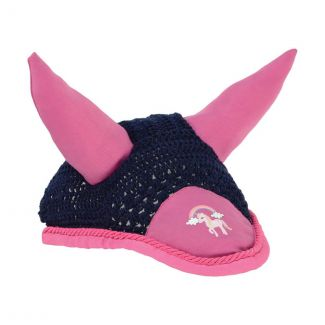 Little Rider Little Unicorn Fly Veil Navy/Pink - Chelford Farm Supplies