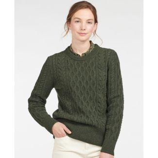 Barbour Ladies Lavenham Knit Jumper   Chelford Farm Supplies