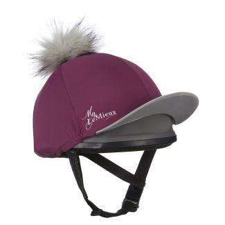 LeMieux Pom Pom Hat Silk Plum