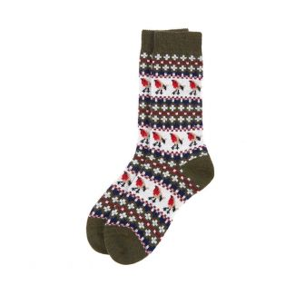 Barbour Ladies Robin Fairisle Sock