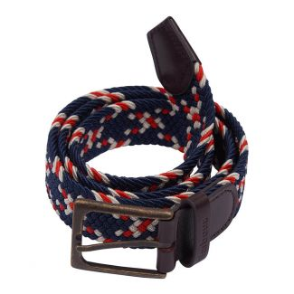 Barbour Mens Mixed Navy Ford Belt