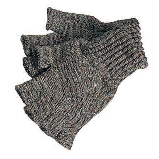 Barbour Fingerless Gloves Green