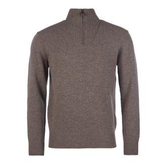 Barbour Mens Essential Lambswool Half Zip Sweater