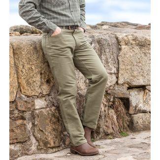 Hoggs of Fife Moleskin Jeans Lovat