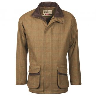 Barbour Mens Moorhen Wool Jacket Olive Brown Check