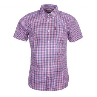 Barbour Mens Gingham 16 Short Sleeved Tailored Fit Shirt