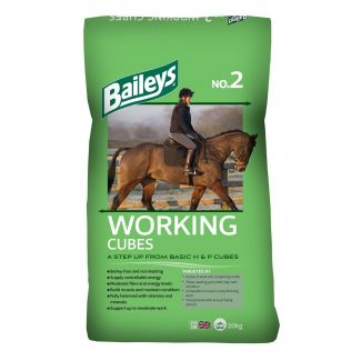 Baileys No.2 Working Horse and Pony Cubes Horse Feed 20kg