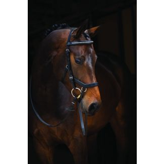 Horseware Rambo Micklem Diamante English Leather Competition Bridle Black